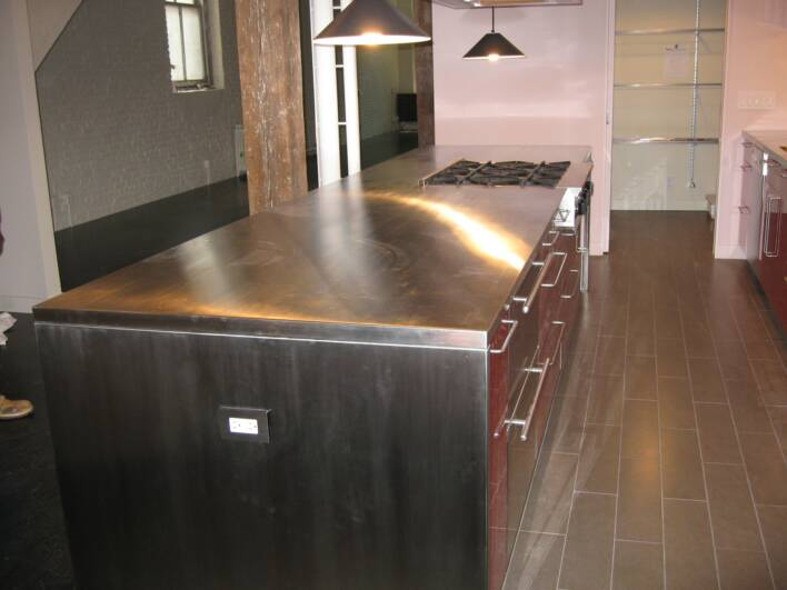 Bcb stainless steel custom works inc countertops 2 for Stainless steel countertops cost per sq ft